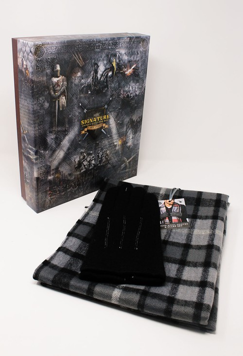 Something Special Men's Black Scarf and Gloves Set