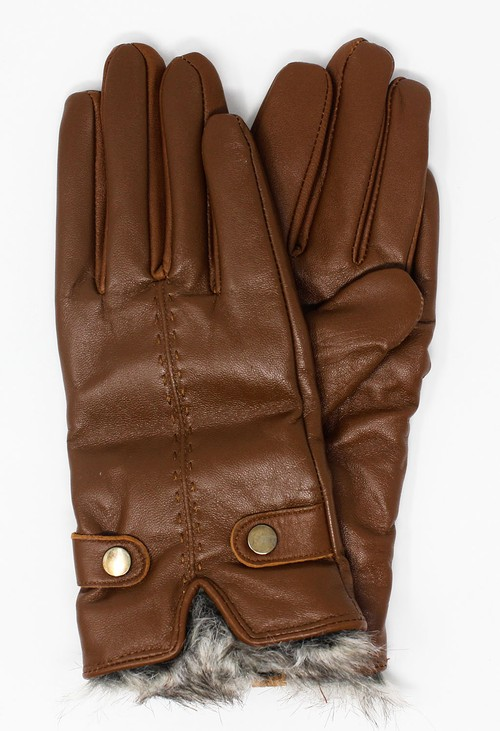 Something Special Tan Genuine Leather Gloves