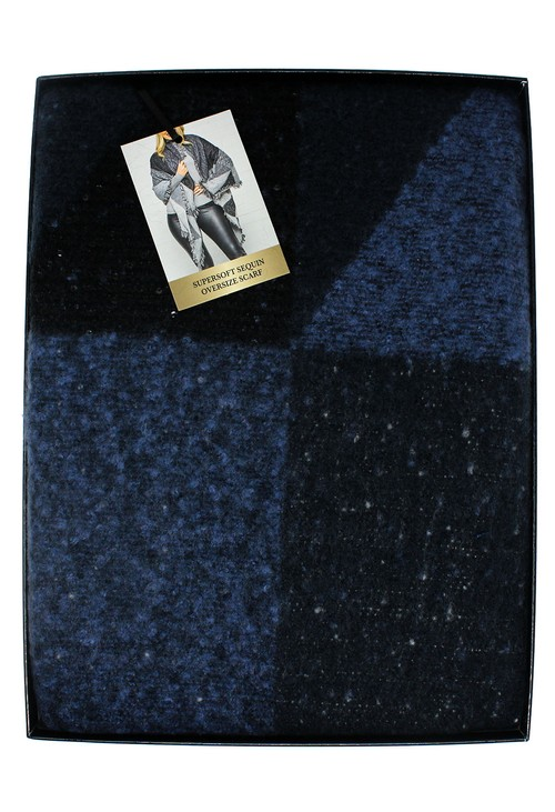 Something Special Navy Super Soft Sequin Oversize Scarf