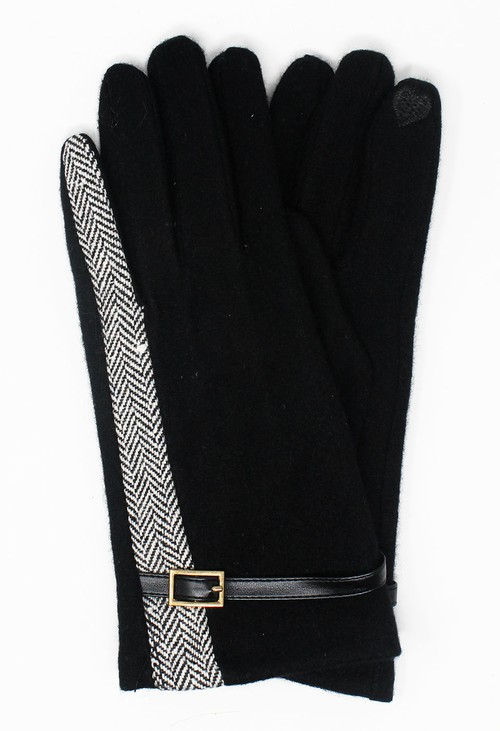 Something Special Black Classic Wool Gloves