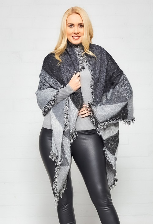 Something Special Charcoal Super Soft Sequin Oversize Scarf