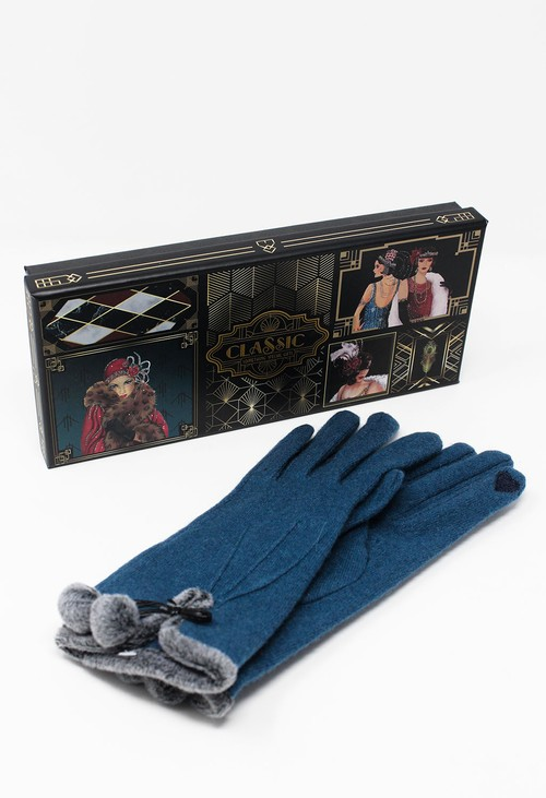 Something Special Teal Classic Wool Gloves
