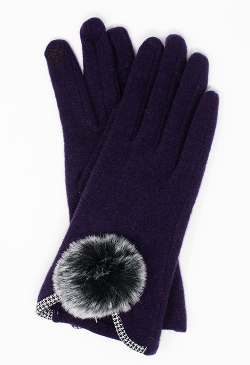 Something Special Purple Classic Wool Gloves