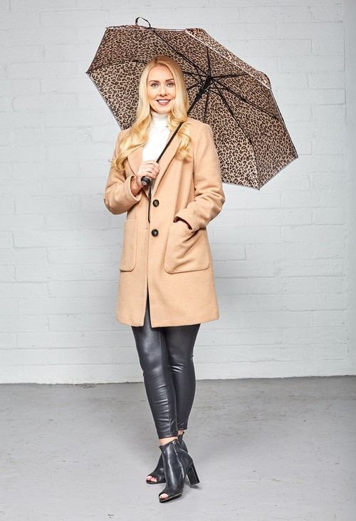 Something Special Leopard Print LED Torch Umbrella