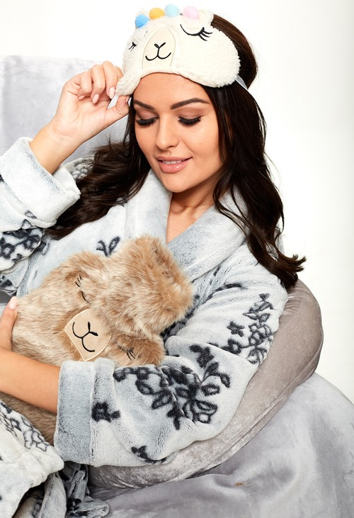 Something Special Llama Hot Water Bottle and Eye Mask Gift Set