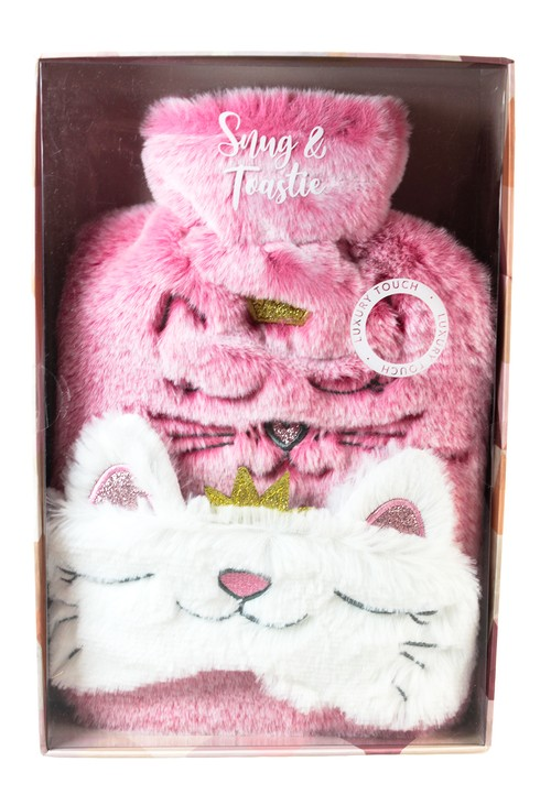 Something Special Kitty Hot Water Bottle and Eye Mask Gift Set
