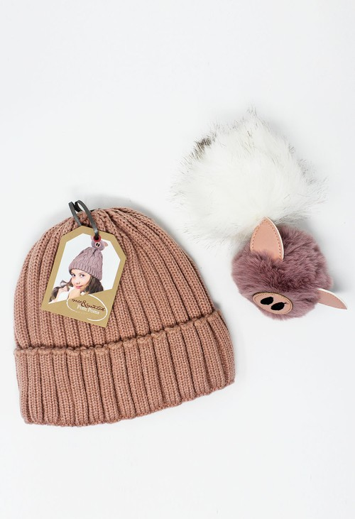 Something Special Kids Pink Mix and Match Pompom Hat