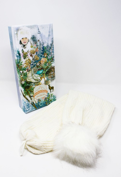 Something Special Cream Knit 2 Way Scarf-Hat