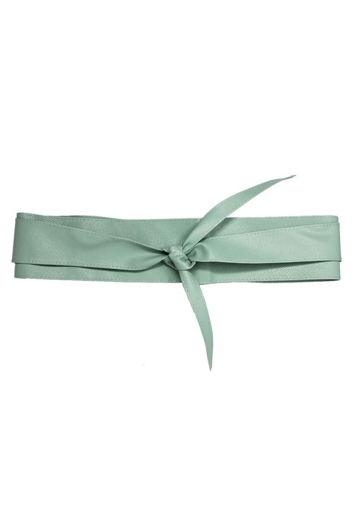 Pamela Scott Sage GREEN OBI BELT
