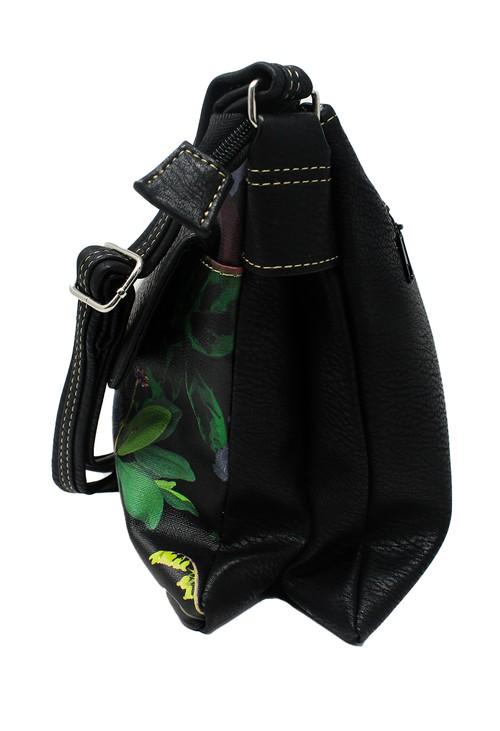 Pamela Scott Black and Floral Crossbody Bag