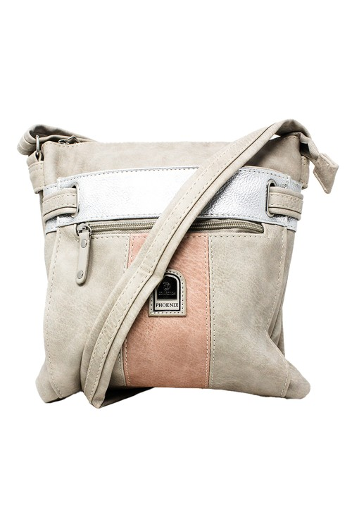 Pamela Scott Beige and Blush Crossbody Bag