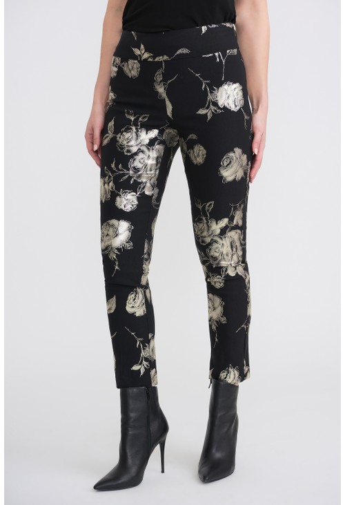 Joseph Ribkoff Floral Print cropped Trousers
