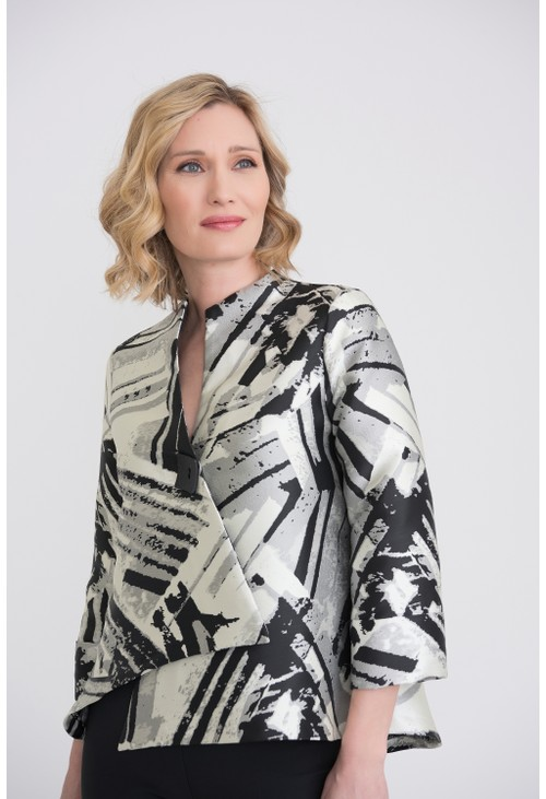 Joseph Ribkoff Structured Printed Jacket