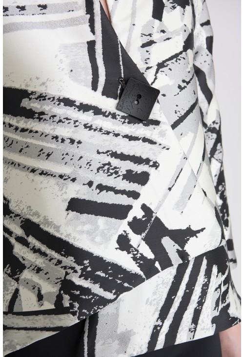 Joseph Ribkoff Structured Printed Jacket