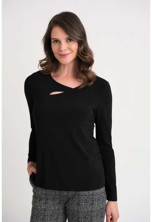 Joseph Ribkoff Long Sleeve Top with Cut Out
