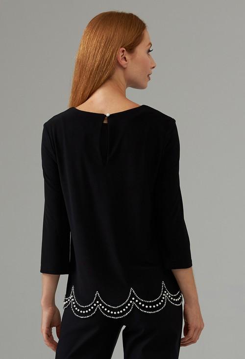 Joseph Ribkoff Black Embellished Top