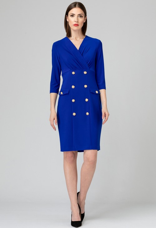 Joseph Ribkoff Royal Sapphire Button Down Dress
