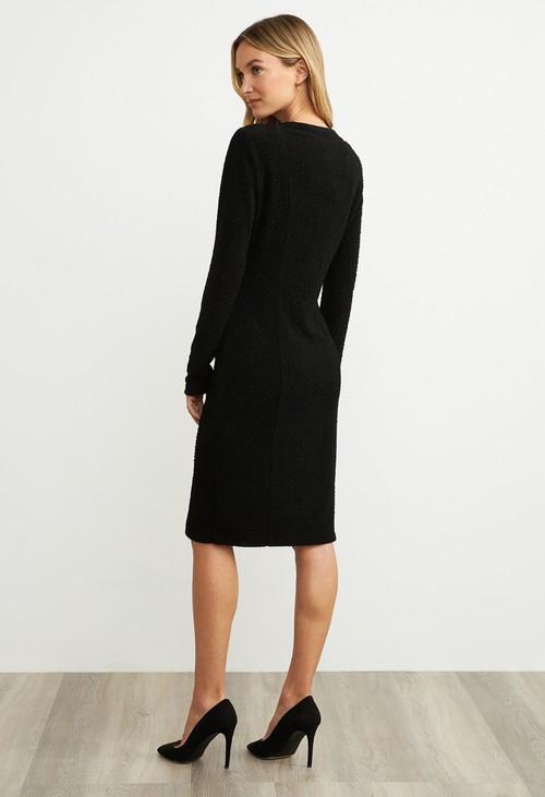 Joseph Ribkoff Black Button Dress