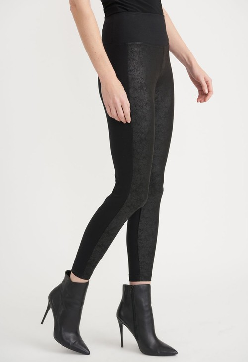Joseph Ribkoff Black Front Coated Skinny Trousers