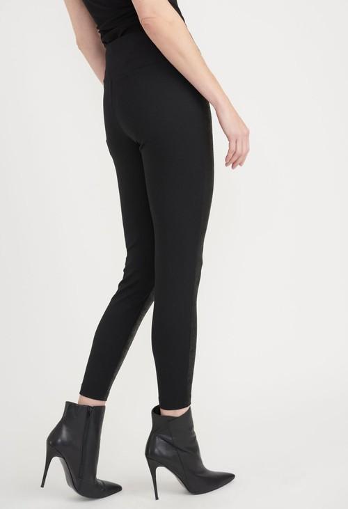 Joseph Ribkoff Black Front Coated Skinny Trousers