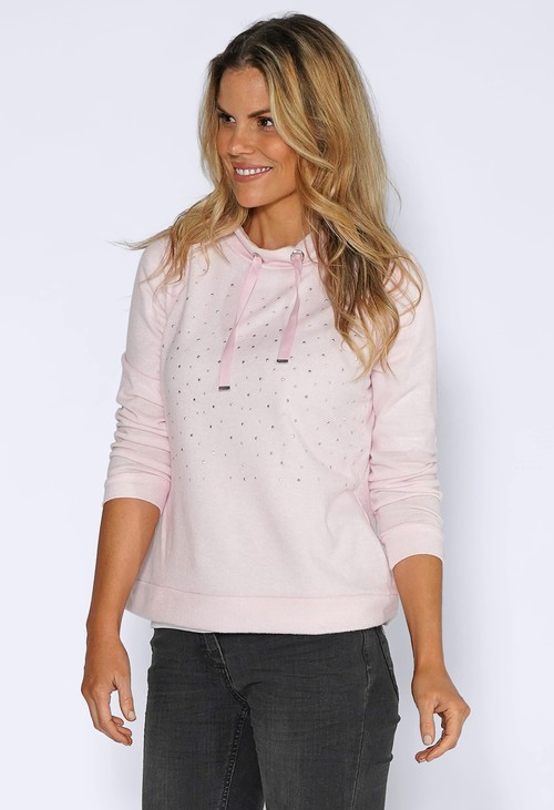 Twist Soft Rose Knit Jumper with Diamante Details