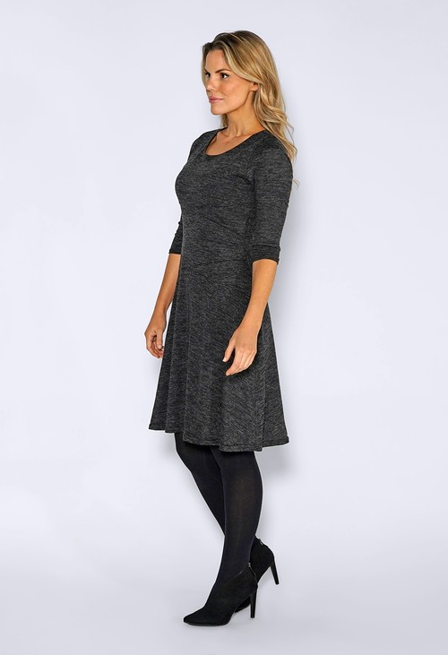 Zapara Grey Knit Dress