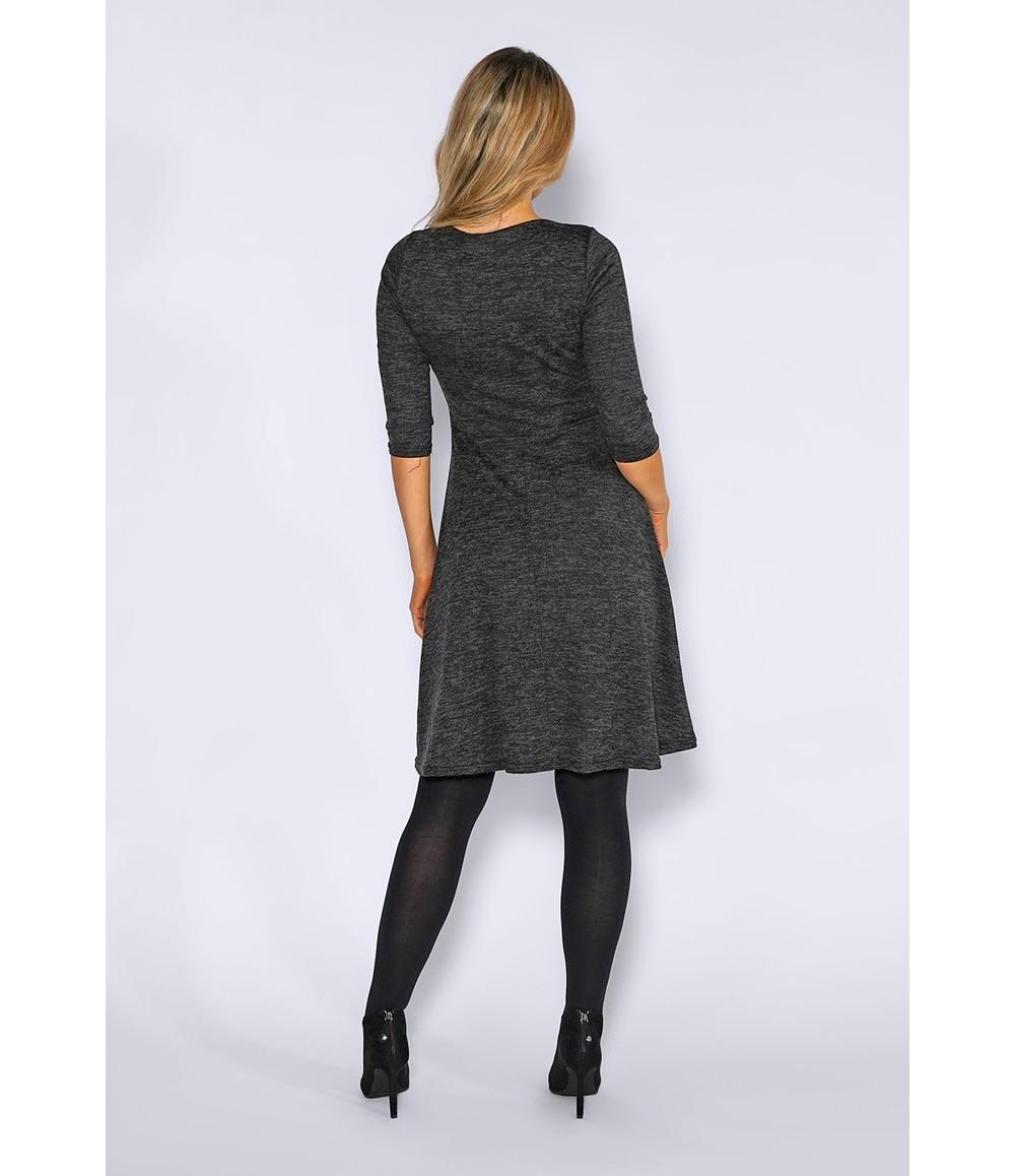 Zapara Grey Knit Dress