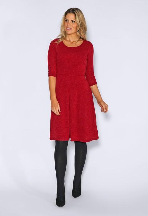 Zapara Red Knit Dress