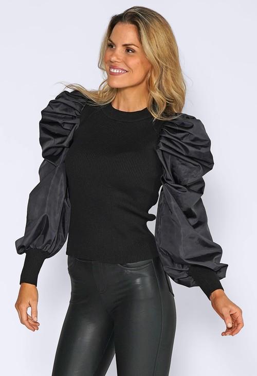 Pamela Scott Puff Sleeve Top
