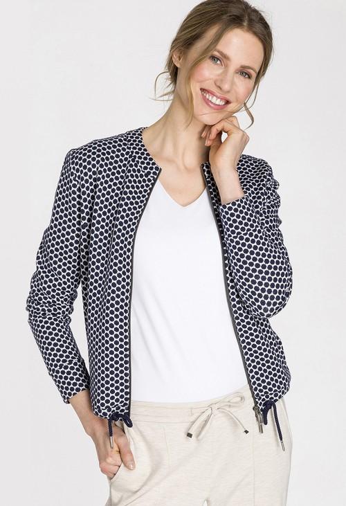 Olsen Navy Dot Jersey Jacket