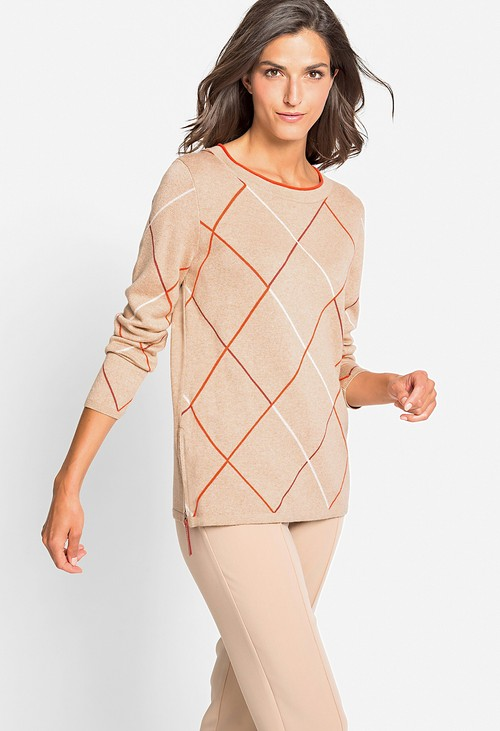 Olsen Diamond Stripe Pullover