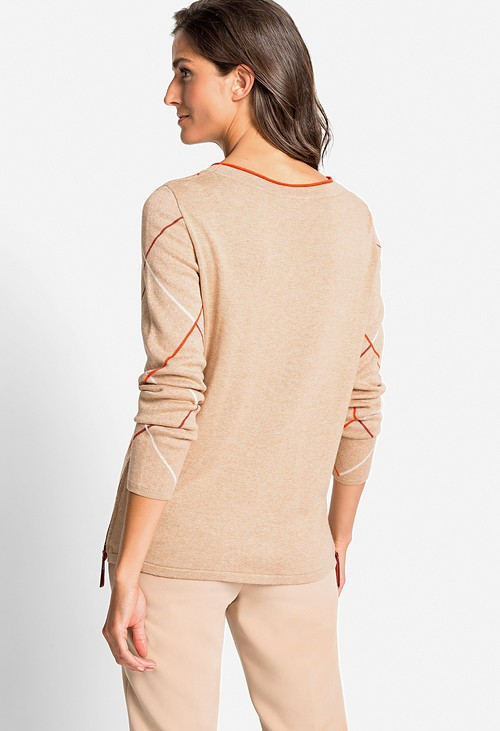 Olsen Diamond Stripe Pullover