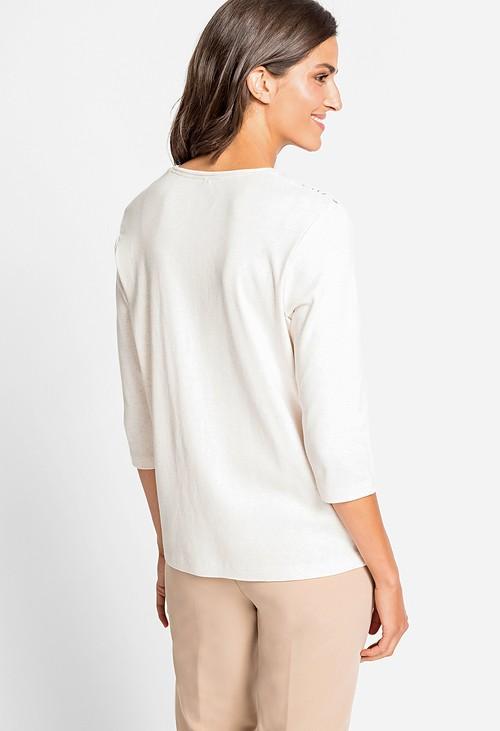 Olsen Floral Print Crew Neck T-Shirt