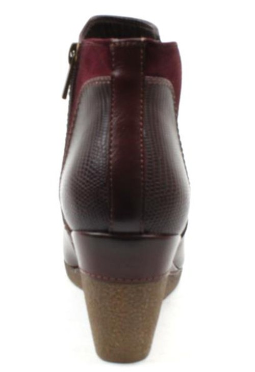 Susst Mulberry LEATHER LOOK SIDE ZIP WEDGE ANKLE BOOT