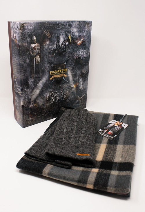 Something Special Men's Dark Grey Wool Gloves and Scarf Set
