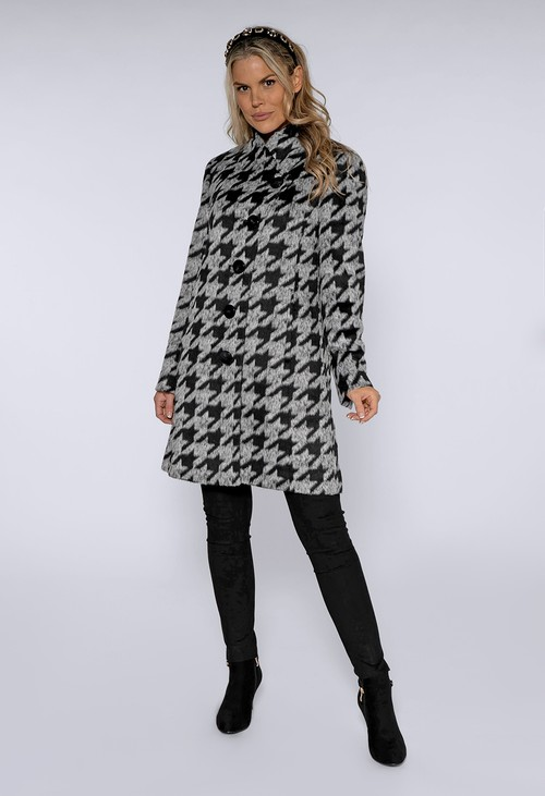 Gerry Weber Black and Grey Hounds Tooth Coat