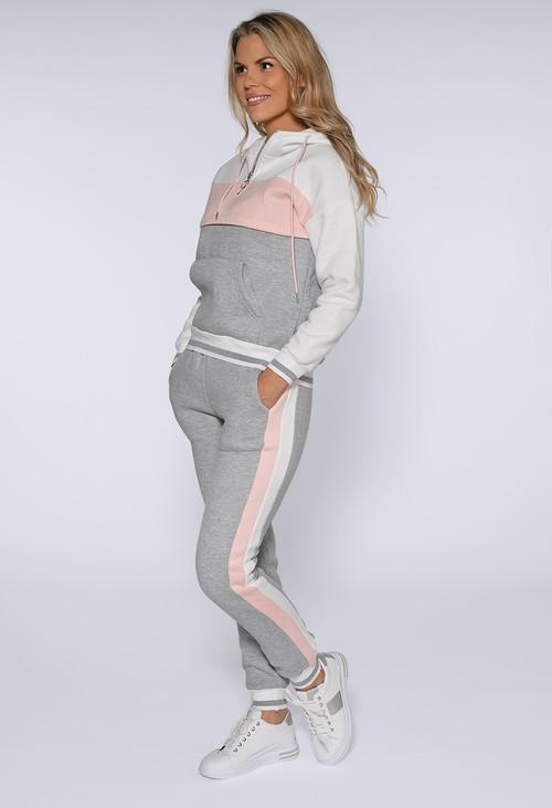 Pamela Scott Soft Touch Pink Block Jogger Set