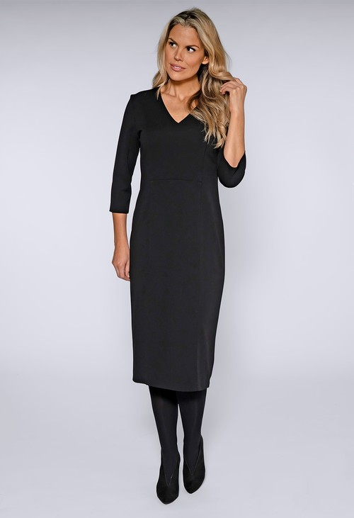 Gerry Weber Black Structured Midi Dress