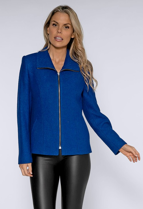 Pamela Scott Royal Blue Boiled Wool Jacket