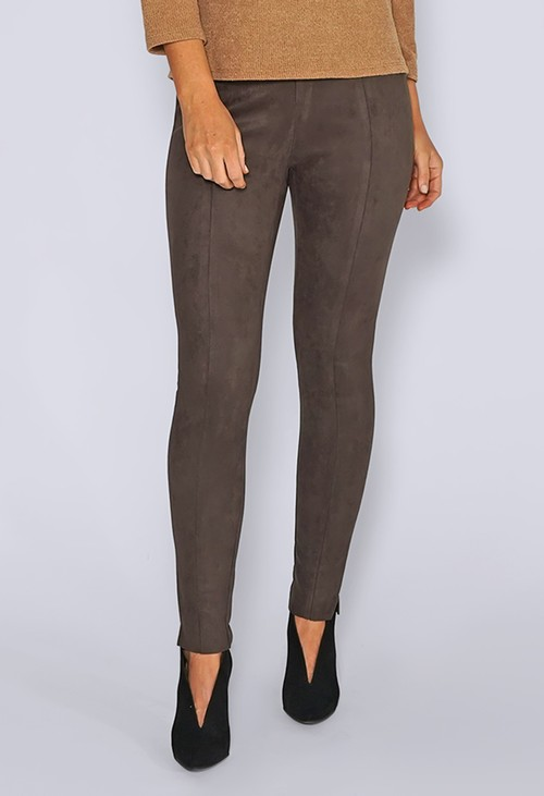 Zapara Brown Suede Leggings