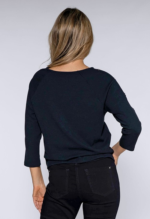 Betty Barclay TEXTURED SWEATSHIRT WITH STUD DETAIL