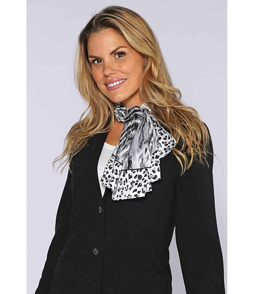 PS Accessories Grey Leopard Print Square Scarf