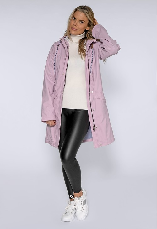 Pamela Scott Lilac Hooded Rain Coat