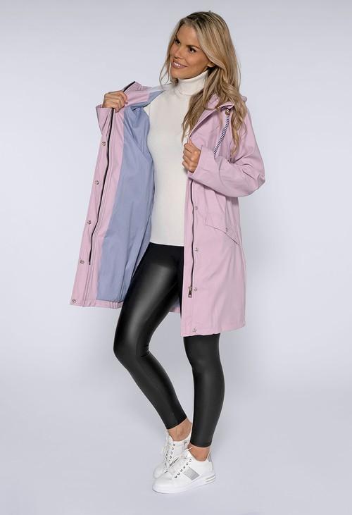 Pamela Scott Lilac Hooded Rain Coat