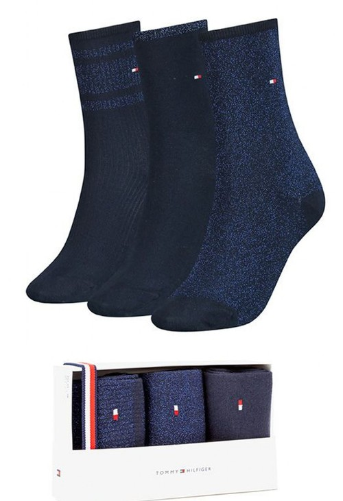 Tommy Hilfiger Socks 3-Pack Woman's Sock Gift Box - Navy