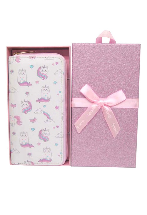 Pulse & Sparkle Pink Unicats Wallet