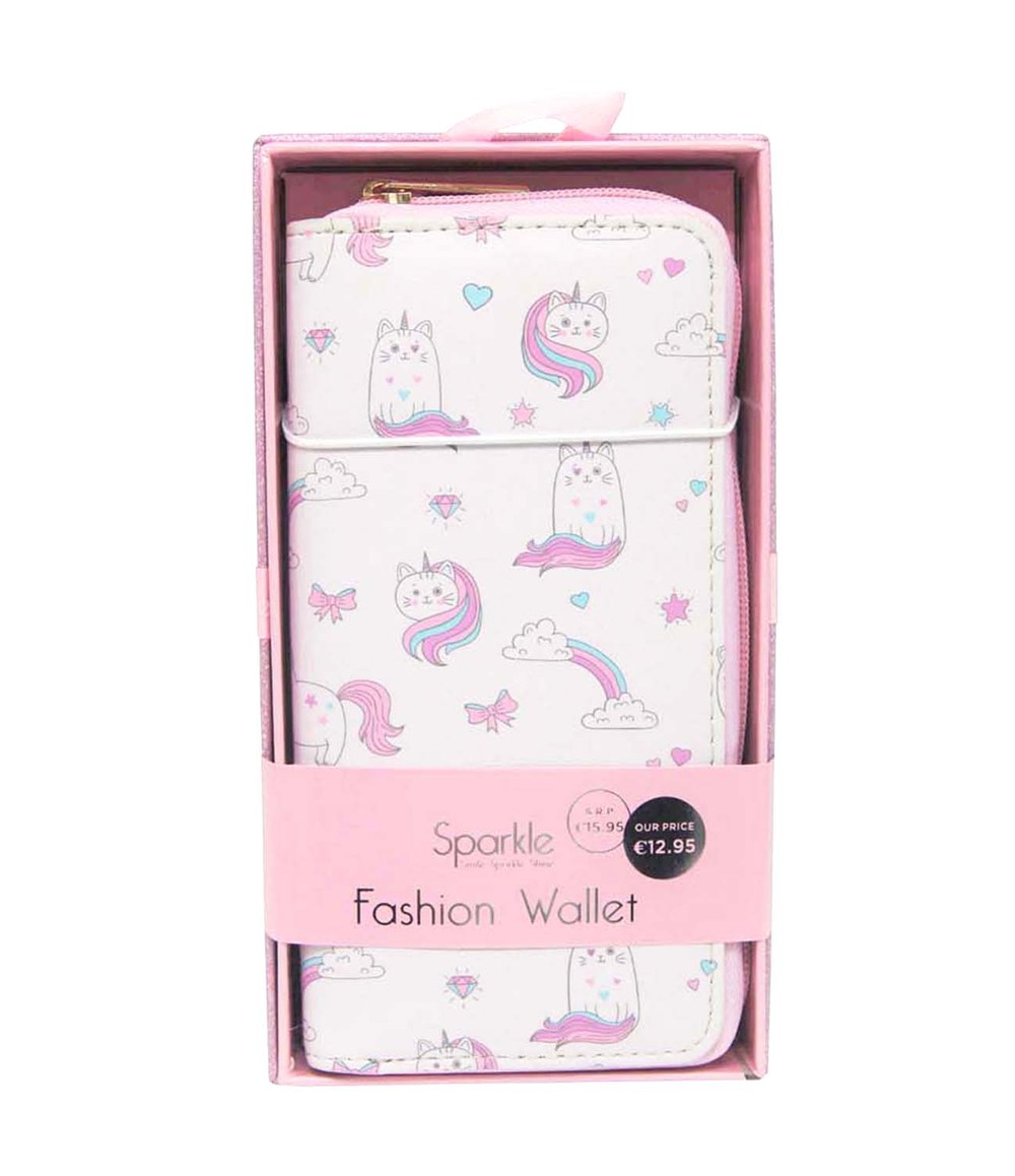 Pulse & Sparkle Pink Unicats Wallet