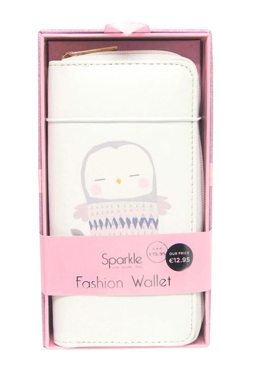 Pulse & Sparkle White Owl Wallet