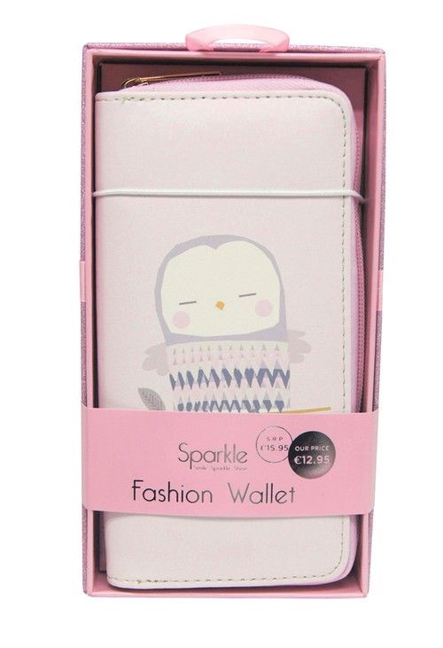 Pulse & Sparkle Pink Owl Wallet