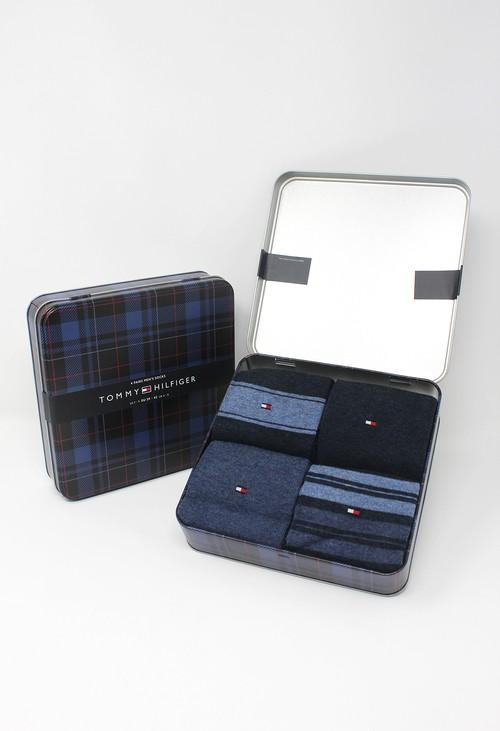 Tommy Hilfiger Socks 4 Pack Stripe Men's Socks Gift Box